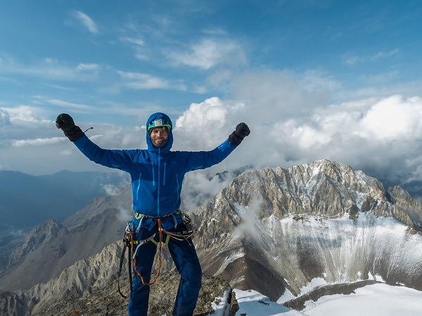 Jožo na vrchole Piku Alexandra Bloka v 5239 m. n. m.
